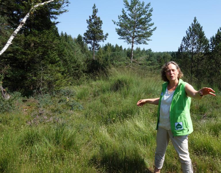 Grossansicht in neuem Fenster: Elisabeth Pleyl kümmert sich als Gebietsbetreuerin der Isar-Loisach-Moore beim Zentrum für Umwelt und Kultur (ZUK) in Benediktbeuern um die Renaturier